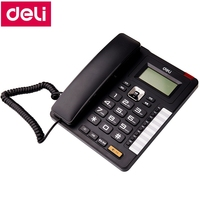 Deli 772 seat type telephone corded office house telephone machine caller ID time display date time set 8 call numbers memory
