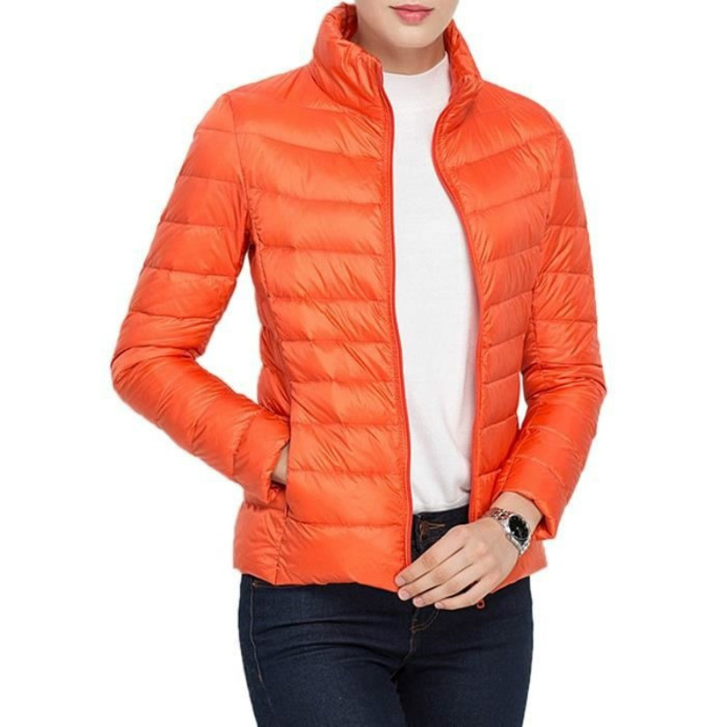 zogaa 2019 New 13 colors Parka Jacket Coat Warm Ultra Light Duck Down Padded Female Overcoat Slim Solid Coat Women's Parka