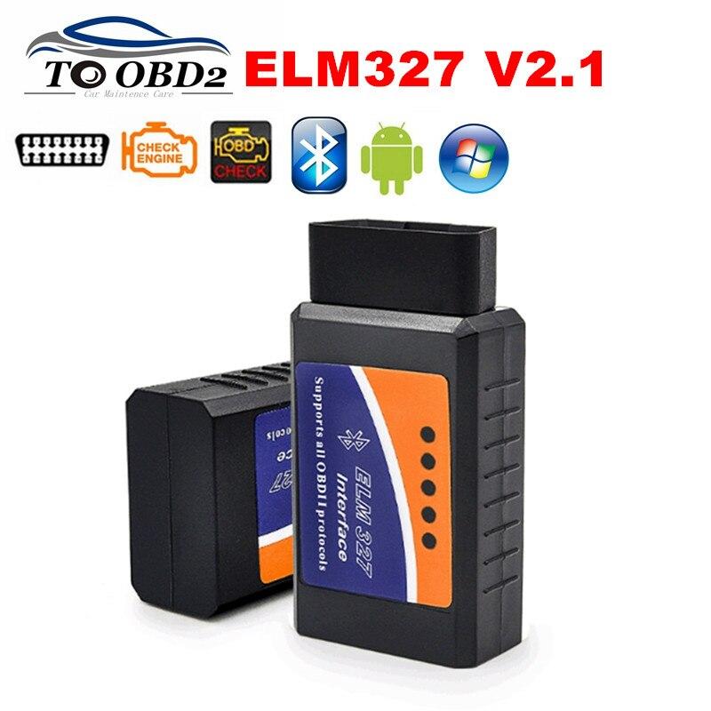 ELM327 Bluetooth V2.1 Wireless Works Android Torque Auto Car Code Reader Diagnostic Tool OBD OBD2 ELM 327 BT Gasoline Cars