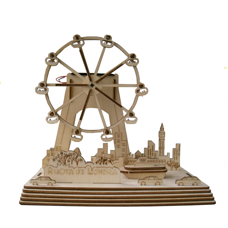 Solar Wooden Windmill DIY Models Education Toys for Kids Children Christmas Birthday Gift Present