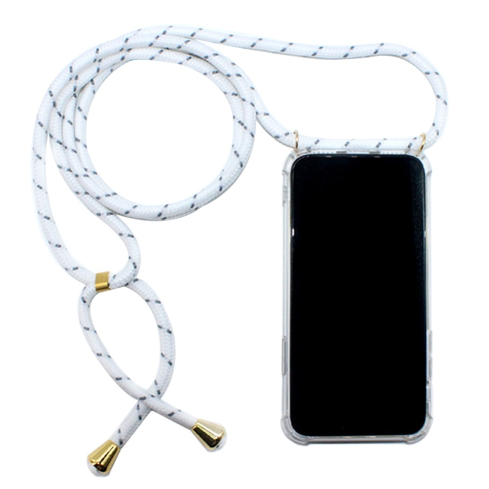 Crossbody Strap Cover For iPhone X Xr XS Max 7 8 Plus 6S 5S SE Case Girly Necklace Coque Lanyard Shoulder Neck Strap Clear Cases (13)