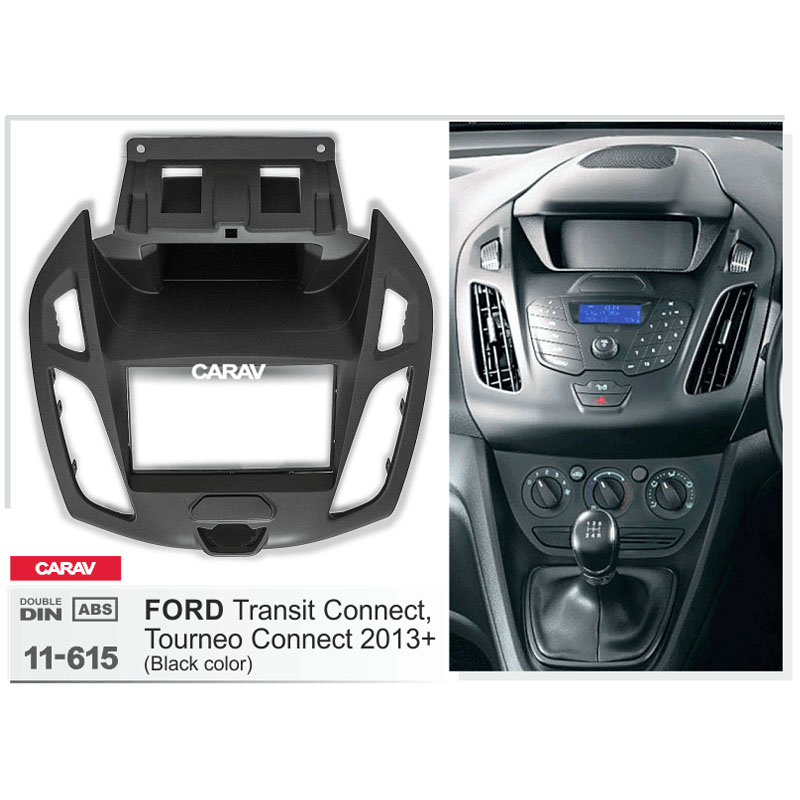 Driver side WITH install kit -Black 2012 Ford TRANSIT CONNECT-POST Post mount spotlight 6 inch 100W Halogen