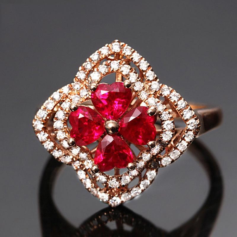 Flower Shape Zircon Ring 2018 Fashion Jewelry Delicate Rings for Women Adjustable Ladies Rings Finger Ring Ringen Voor Vrouwen