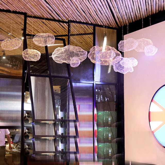 Online shop modern creative cloud light fixtures led pendant lamp modern creative cloud light fixtures led pendant lamp starry personality hotel restaurant bar designer firefly moderne lustre mozeypictures Gallery