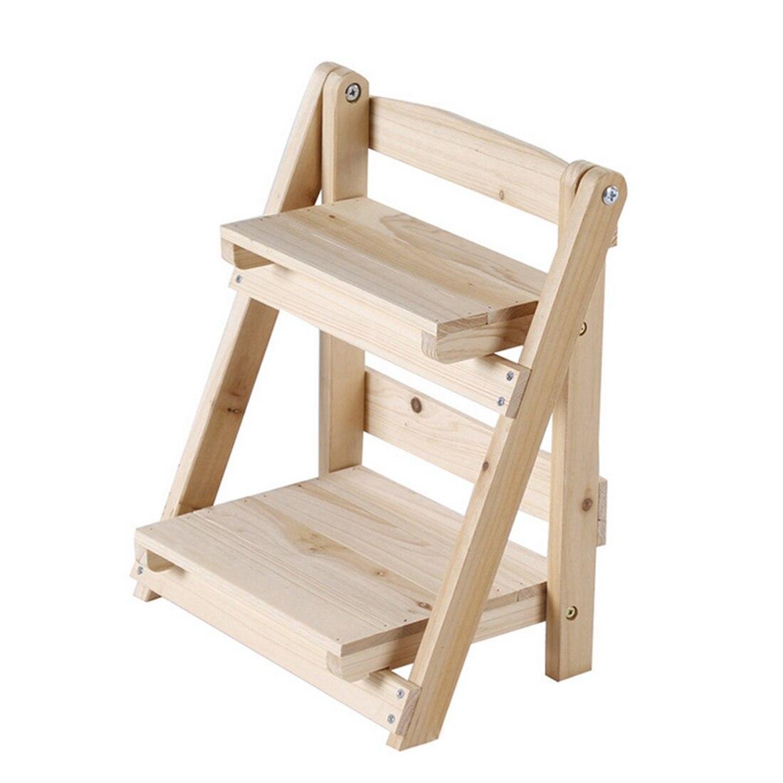 Online Shop HIPSTEEN Mini Solid Wood Tabletop Storage Rack Shelf Household  Flower Pot Frame Stand | Aliexpress Mobile