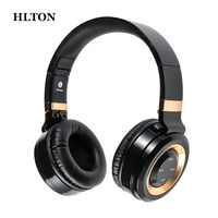 HLTON Foldable Bluetooth Headphone Wireless Earphone Stereo Bass Headset Earbuds Support TF Card With Mic For