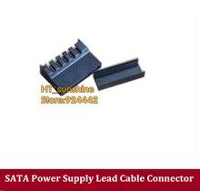 Бесплатная доставка ПК DIY диск SSD жесткий диск SATA Питание привести кабель Разъем плоский и высокая крышка Форма