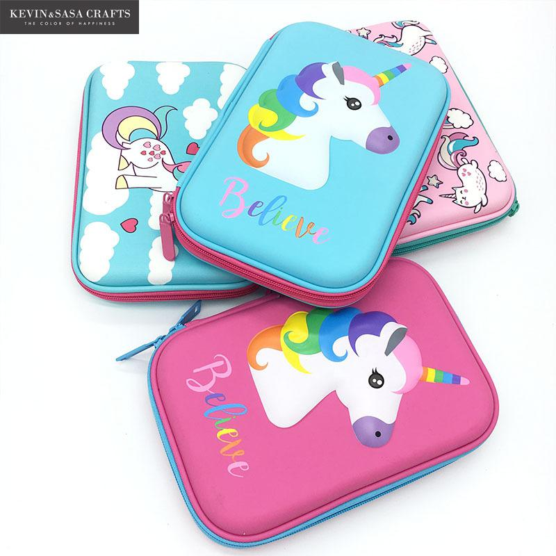 Large Capacity Pencil Case Cake Pen Pouch Bag For Girls And Boys Double zipper Cute School EVA Pencil Box Stationery Supplies cute cartoon fruit pencil case student pencil cases eva zipper large capacity pen bag school kids office supplies stationery