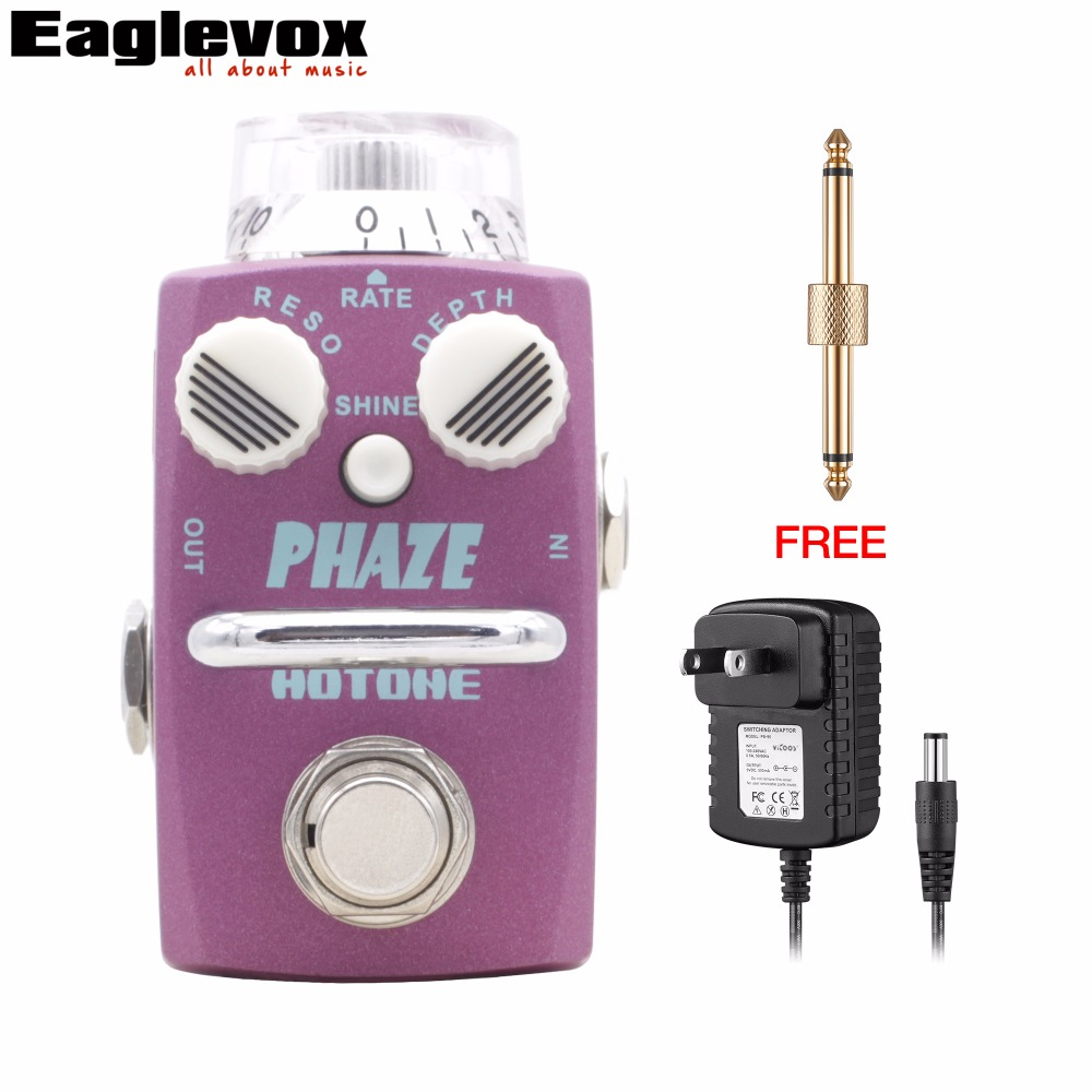 Hotone Phaze Analog Phaser Guitar Pedal Skyline Series Effects True Bypass with Free Power Adapter and Connector mooer ninety orange phaser guitar effect pedal micro analog effects true bypass with free connector and footswitch topper