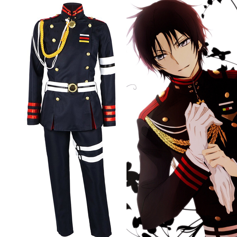 Anime  Cosplay  Seraph of the end  Guren Ichinose Uniform Cosplay Costumes  European  size  Free Shipping