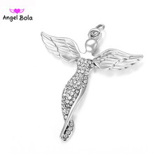 10 Pcs ขายส่ง Pryme Angel Bola Uno de 50 Lucky Angel Wings ฝังคริสตัล DIY (China)