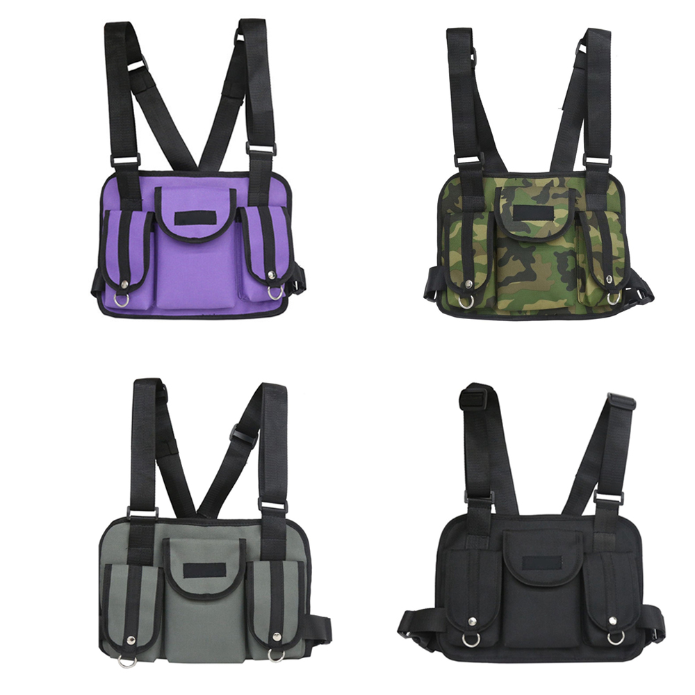 Fashion Chest Rig Waist Bag Hip Hop Street Wear Functional Tactical Chest Bag 4 Colors Portable Shoulder Bags Black Camo Video Games Consumer Electronics