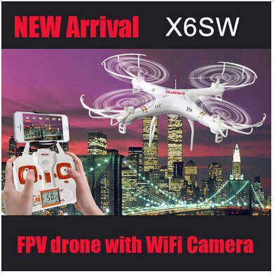 With Cameras X6SW 2.4G Remote Control Toys 4CH 6-Axis gyroscope RC Quadcopter RC Helicopters Radio Control Aircraft RTF Drone free shipping wltoys f959 lights sky king 2 4g 3ch radio control rc rtf throwing flight airplane epo aircraft