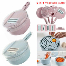 Multi Functional 9 in 1 Vegetable Slicers Easy Food Chopper Fruit Cutter Easy Tool Home Kitchen Supplies