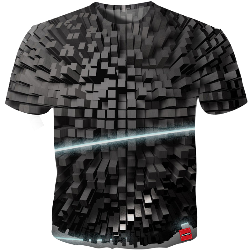 Cloudstyle 3D T-shirts Heren Dimensionaal Abstract Baksteen 3D Print - Herenkleding
