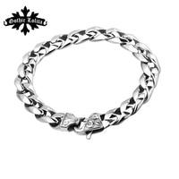 Fashion Vintage Buckle Flower Anchor Bracelet For Men Jewelry Stainless Steel Bracelet Best Friends Gift Accessories