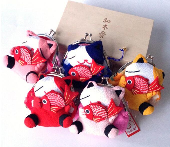Chirimen Lucky Cat Coin Purse/Coin Purse/Wallet/Coin Bag/Coin Wallet/Japan зубъя для кошек grivel grivel g14