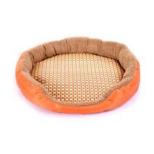 Овальная форма Модный милый коврик для питомца собаки кошки летний коврик домашняя кровать мягкий дышащий коврик для сна для домашних животных собаки подушка для животных