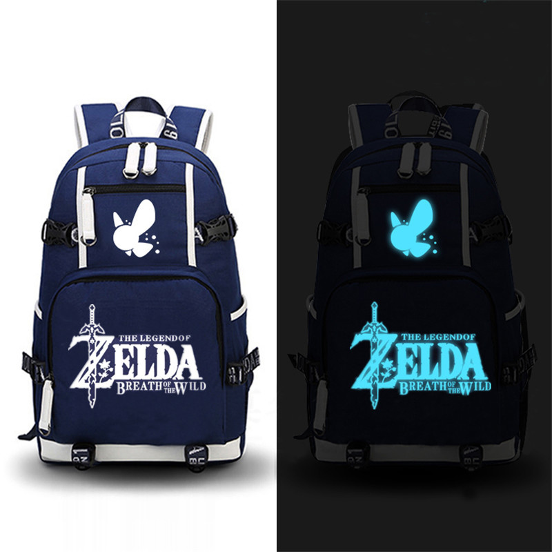 High Quality 2017 Game The Legend Of Zelda: Breath Of The Wild Printing Zelda Backpack Canvas School Bags Travel Laptop Backpack #3