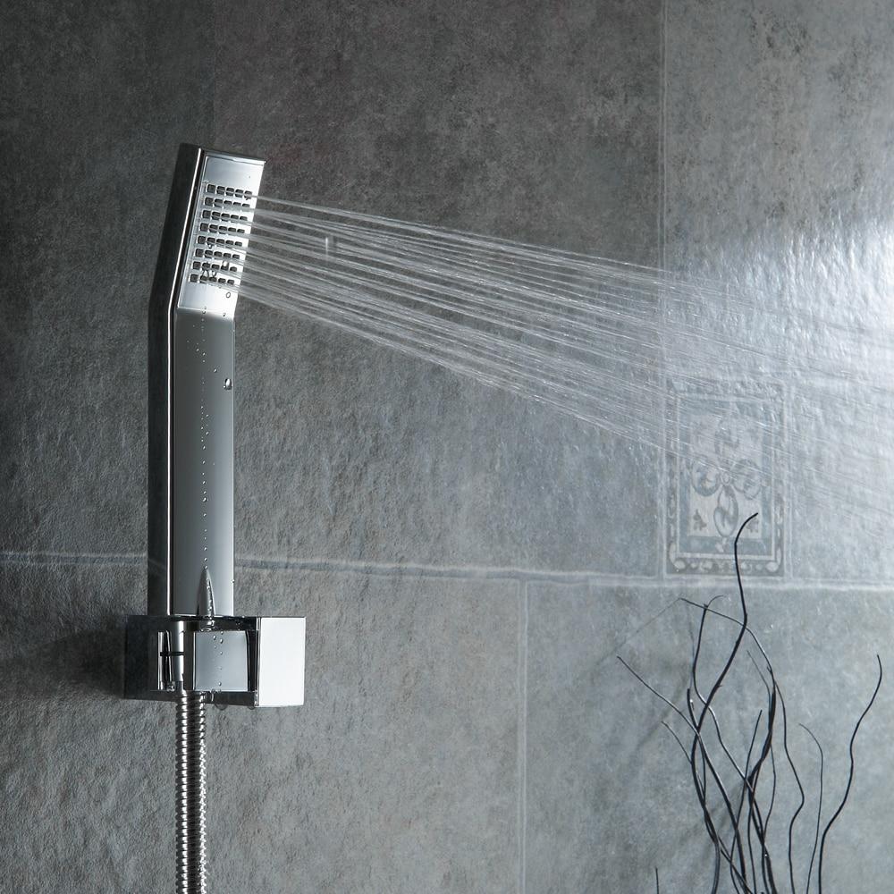 BAKALA Bathroom Luxury Rain Mixer Shower Combo Set Wall Mounted ...
