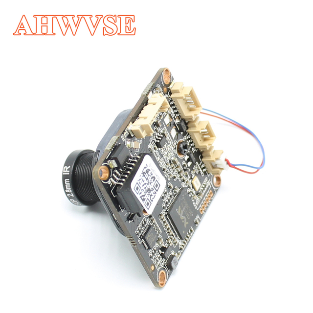 AHWVE DIY 1080P 2MP IP Camera module Board with IRCUT RJ45 Cable ONVIF H264 Mobile APP XMEYE Serveillance CMS 2.8mm Lens