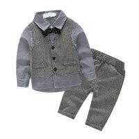 England Style Boys Sets Fashion Cool Kids Clothing Set Cotton Children Jumpsuits