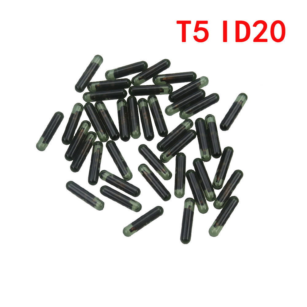 10 pieces Car Key Chip T5 ID20 glass chip for Car Key Locksmith Tool ID T5 Transponder Carbon original new blank for 11 12 13 okeytech 10pcs lot best car key chip t5 id20 ceramic for car key transponder key id t5 transponder chip copy to id 11 12 13 33