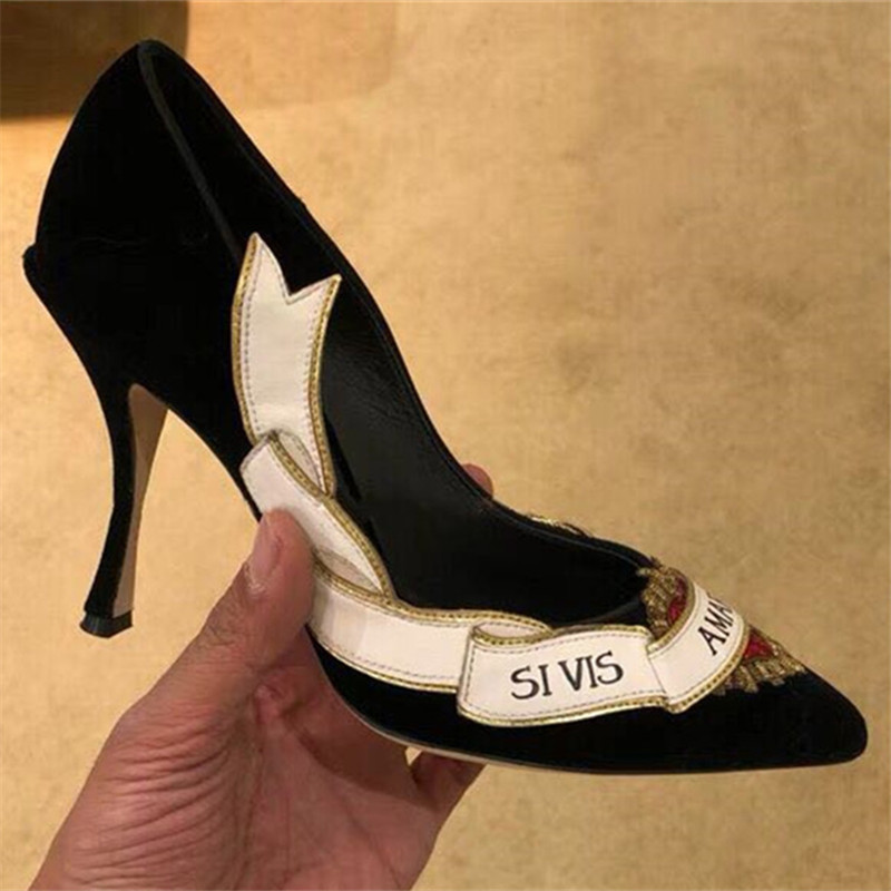 65f572a591c147 Sexy Zapatos Pic as Femme Mujer Rouge Talons Chaussures Pompes Stiletto  Hauts Pointu Dames Coeur De ...