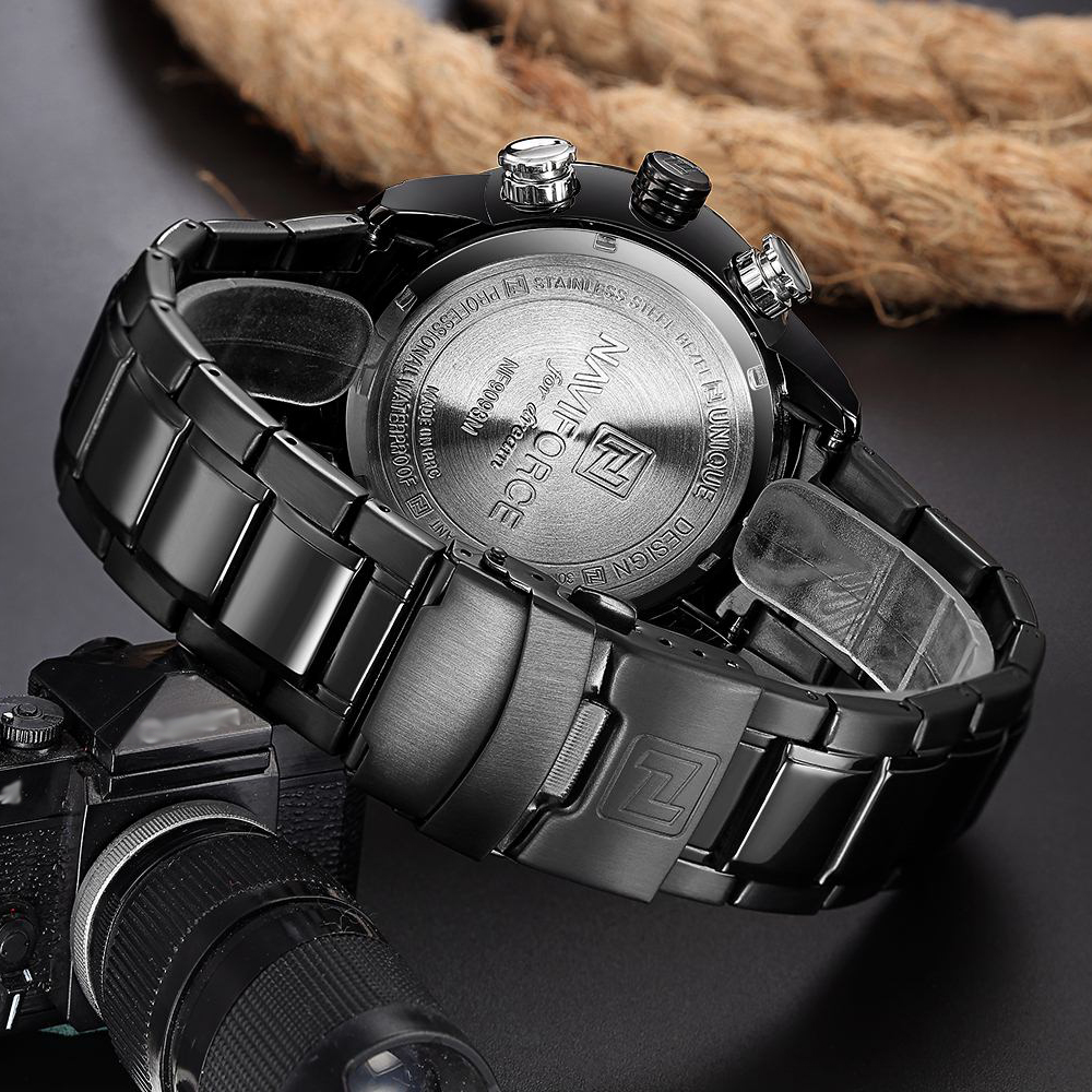 NAVIFORCE Mens Quartz Analog Watch Luxury Fashion LED Sport Wristwatch Waterproof Stainless Male Watches Clock Relogio Masculino 20