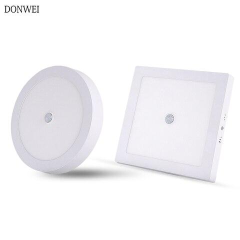 lampadas de teto led fixadas em superficie pir sensor de movimento luz noturna 6w 12
