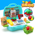 New Arrival Supermarket Cash Register Children Toy Checkout Simulation Large Storage Box Boys And Girls Play Set Toys gift