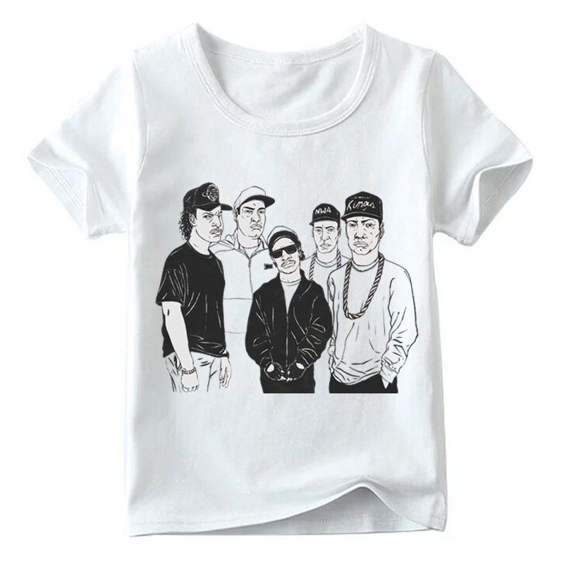 HTB1Ii 2LSzqK1RjSZFHq6z3CpXaI - Matching Family Outfits NWA Straight Outta Compton Print T-shirt Family Matching Look Clothes Kids&Man&Woman Funny Tshirt