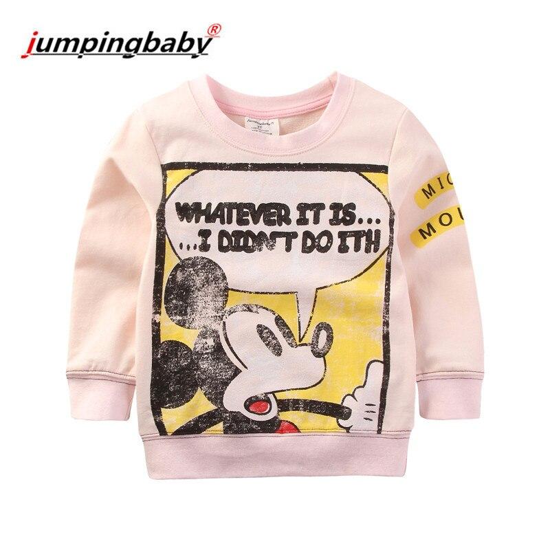 Pulando 2019 camisa Das Meninas T Roupa Dos Miúdos T-shirt Mickey Moletom Bebê Dos Desenhos Animados Outono Tops Queda Tshirt Camiseta Roupa De Menina