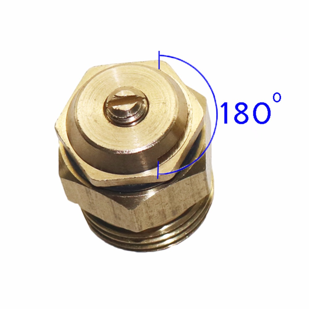 2 Pieces Of 180 Degrees Copper Spray Nozzle Head Automatic Sprinkler G 1/2