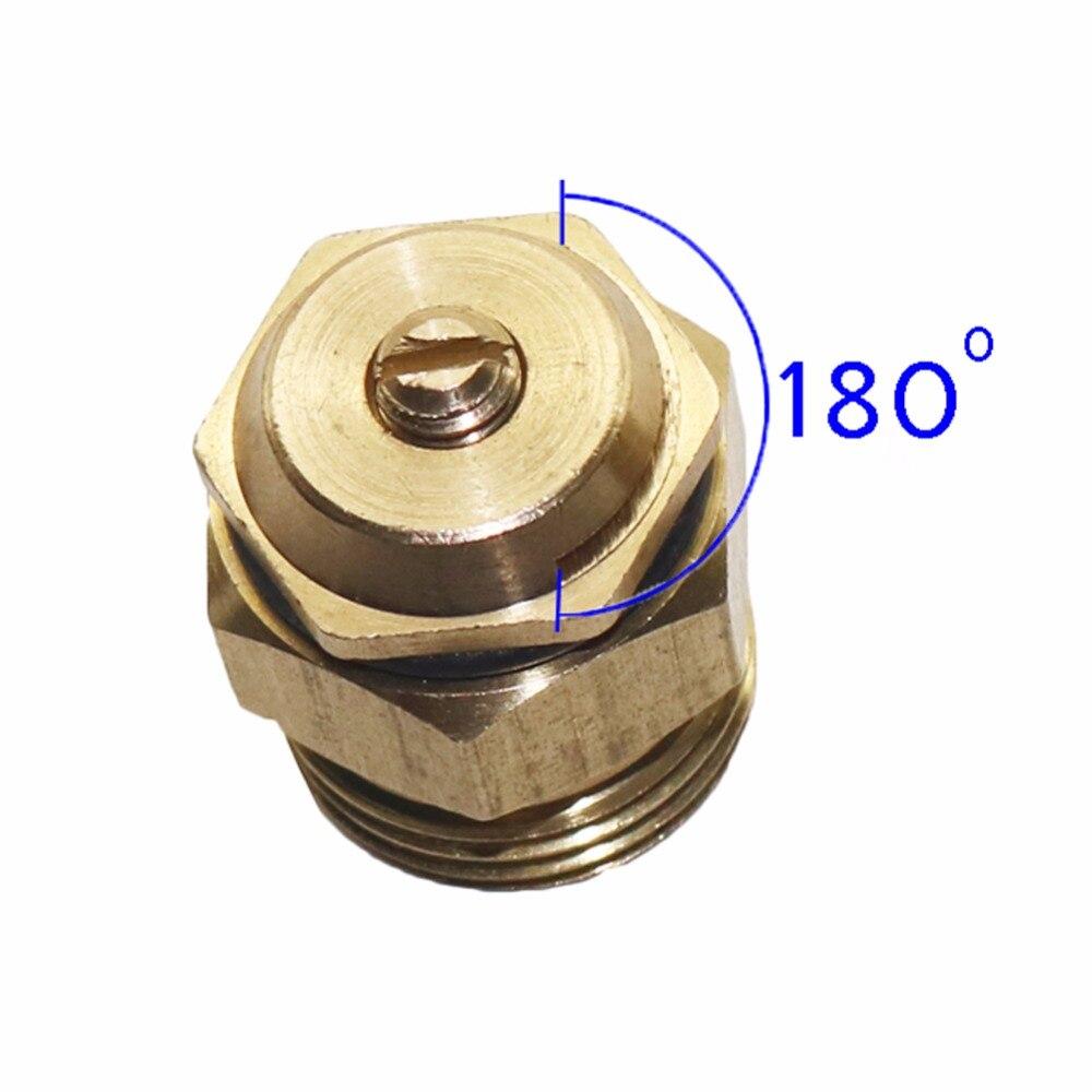 2x Brass Spray Misting Nozzle Sprayer Adjustable Outdoor Sprinkler Barb// Thread