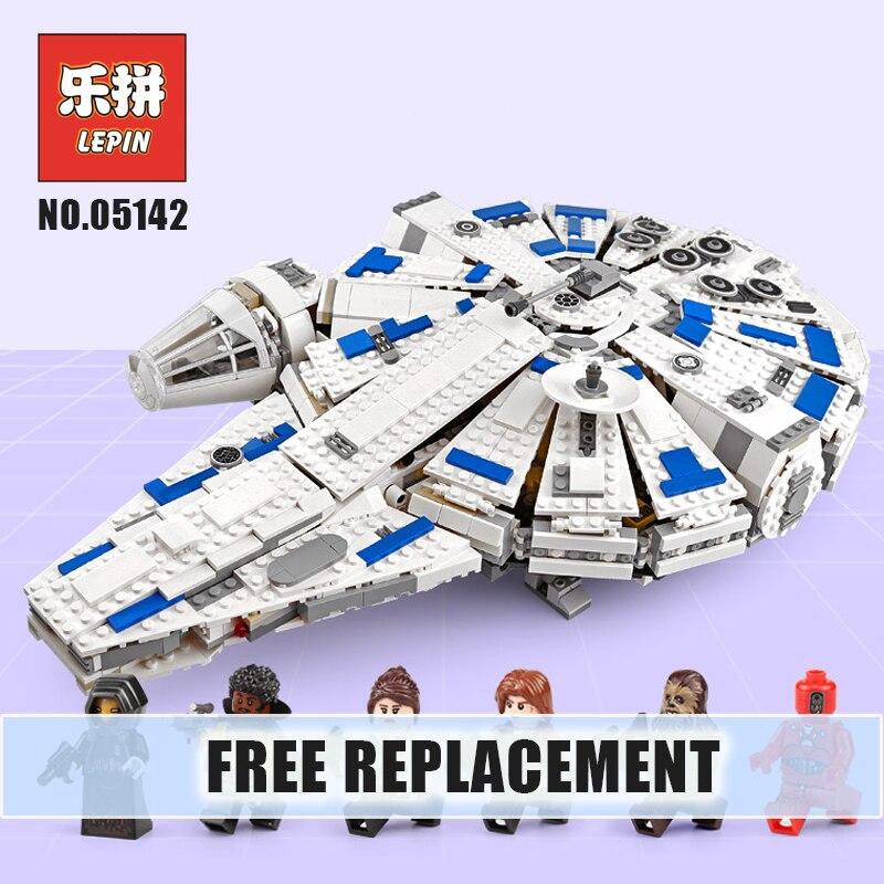 LEPIN Starwars 05142 Force Awakens Star Plan Wars Kessel Run Millennuim Falcon Model Building Blocks 75212 Toy Legoinglys Gift стоимость