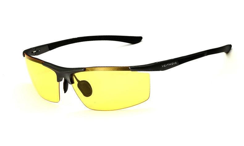 Поляризованные солнцезащитные очки из алюминиевого сплава. Мужские линзы. Зеркальные солнцезащитные очки для рыбалки, спорта и активного отдыха на свежем воздухе. Очки 6588 - Цвет линз: Night vision