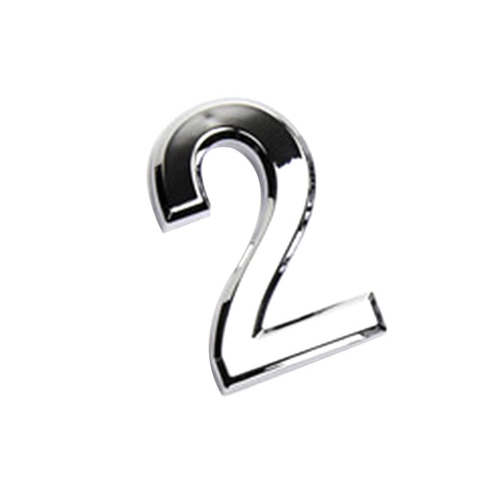 ตัวเลขประตูป้ายบ้านชุบ Gate 0 ถึง 9 หมายเลขพลาสติก: โรงแรมบ้านสติกเกอร์ประตูป้าย