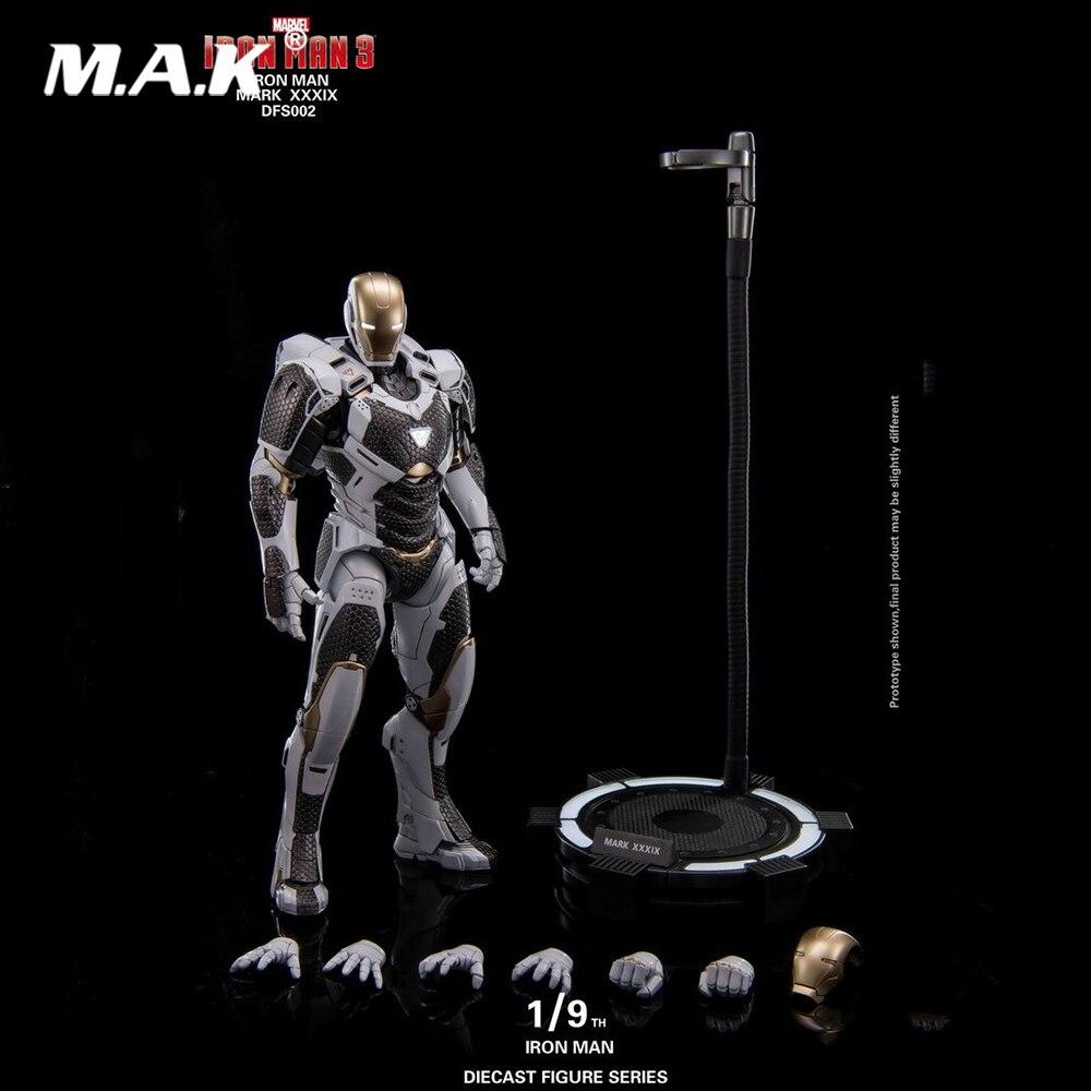 все цены на 1/9 Scale King Arts DFS002 Diecast Alloy MK39 Iron Man Gemini KA Action Figure for Fans Collection Gift онлайн