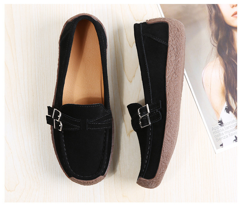 HX 7732-2019 Spring Autumn New Arrival Genuine Leather Women Flats Shoe-4