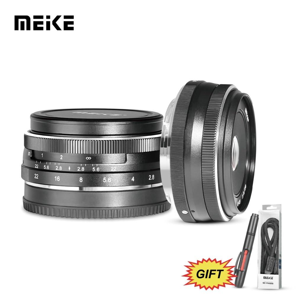 Meike 28mm f/2.8 Mise Au Point Manuelle Objectif Fixe pour Sony E Mont Appareils Photo Numériques NEX3/5/ 6/7/A5000/A5100/A6000/A6100 et A6300 + Cadeau Gratuit