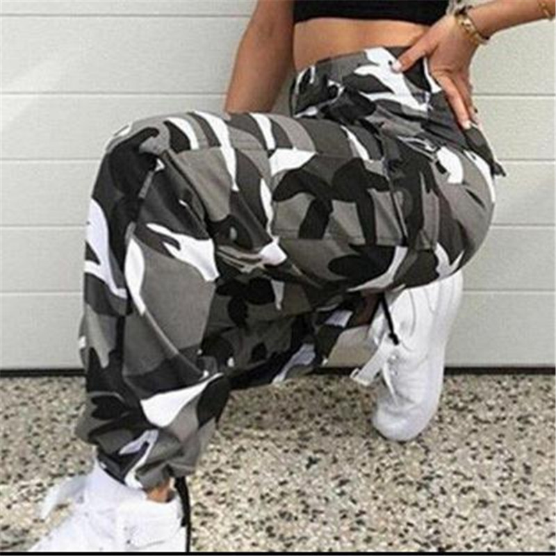 Women Harlan Pants Sports Camo Cargo Long Pants Ladies Females Fashion Outdoor Camouflage Trousers X-large Casual Pants New 2019