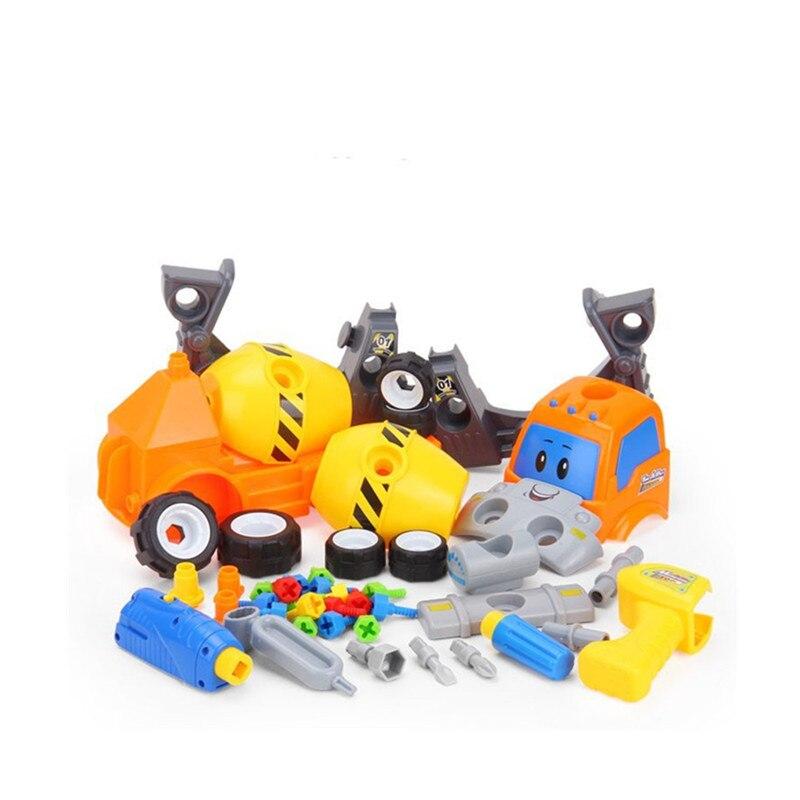 Discreet Diy Demontage Montage Speelgoed Voor Kinderen Ingenieur Vrachtwagen Auto Helicopter Trein Educatief Blokken Speelgoed Schroevendraaier Moer # Car006 Aangename Zoetheid