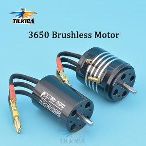 High Speed Good Quality SSS 3650 Brushless Motor 1800KV 2700KV Brushless Motor 4 Poles For RC Marine Boats(China)