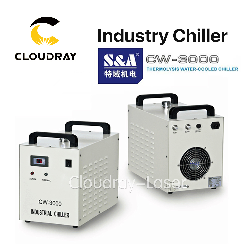 Cloudray S&A CW3000 Industrial Water Chiller for CO2 Laser Engraving Cutting Machine Cooling 60W 80W Laser Tube DG110V AG220V купить