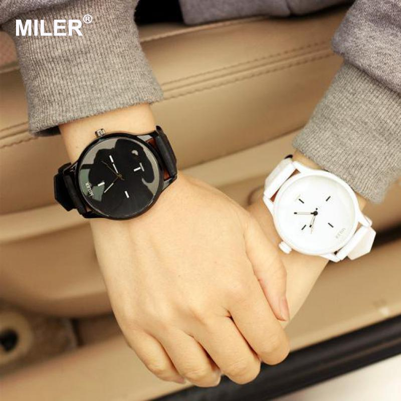 High Quality Fashion Brand Soft Silicone Strap Jelly Quartz Watch - Dameure - Foto 2