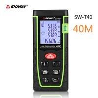 Sndway mini handheld laser medidor de distância 40m laser rangefinder oem fita laser medida roleta ferramenta