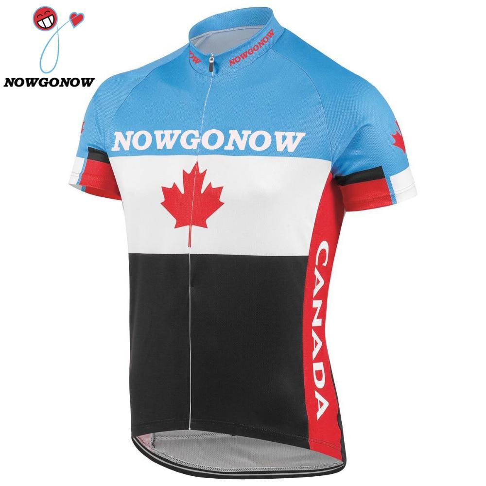 Prix pour 2017 canada hommes marque vélo zersey Vêtements à manches courtes Jersey Cycling team Jersey Bike wear vélo clothing Racing