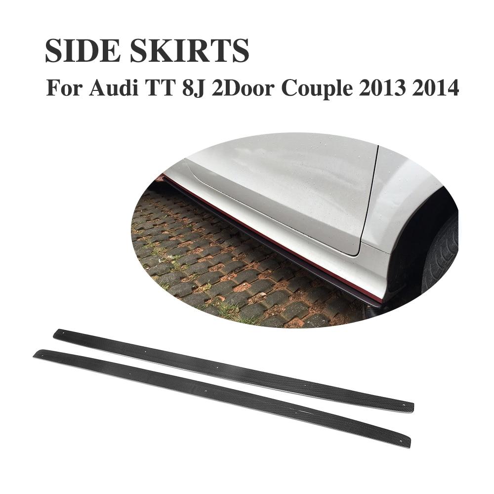 Carbon Fiber Side Skirts for Audi TT 8J TTS Coupe Convertible Roadster 2013 2014 rastar 82500 audi tts roadster 12v 2 4g