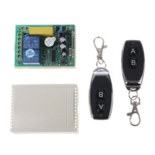 цена на 433Mhz Universal Wireless Remote Control Switch AC 250V 110V 220V 2CH Relay Receiver Module